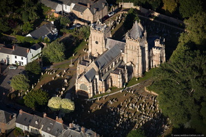 St Mary's Church, Ottery St Mary, Devon  from the air