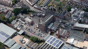 Heathcoat Fabrics Tiverton from the air