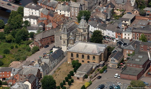 St George's Church, Tiverton  from the air