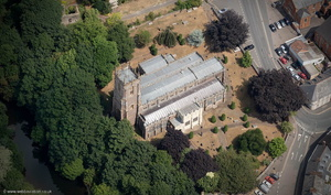 St Peter's Church, Tiverton from the air