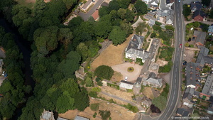 Tiverton Castle from the air