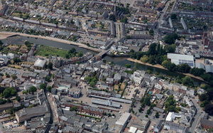 Tiverton from the air