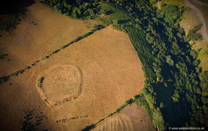 Voley  Castle Iron Age enclosure  aerial photograph