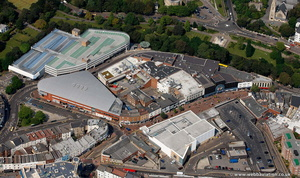 The Avenue Shopping Centre Bournemouth from the air