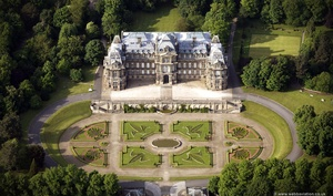 the Bowes Museum Barnard Castle, Durham England UK aerial photograph