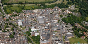 town centre Bishop Auckland from the air