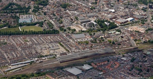 Darlington Durham England UK aerial photograph