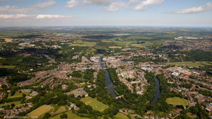 Durham County Durham England UK aerial photograph