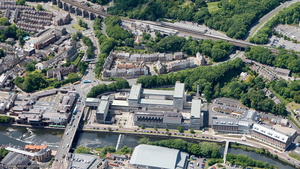 Milburngate House, Durham from the air