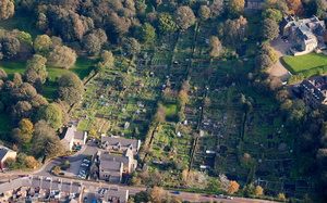 St. Margaret's Allotments Durham from the air