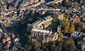 Durham Castle County Durham England UK aerial photograph