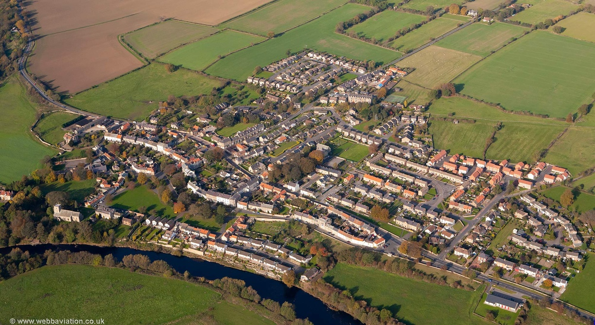Gainford from the air