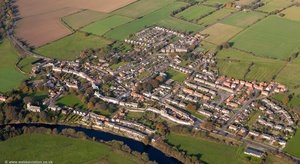 River Tees Gainford   County Durham England UK aerial photograph