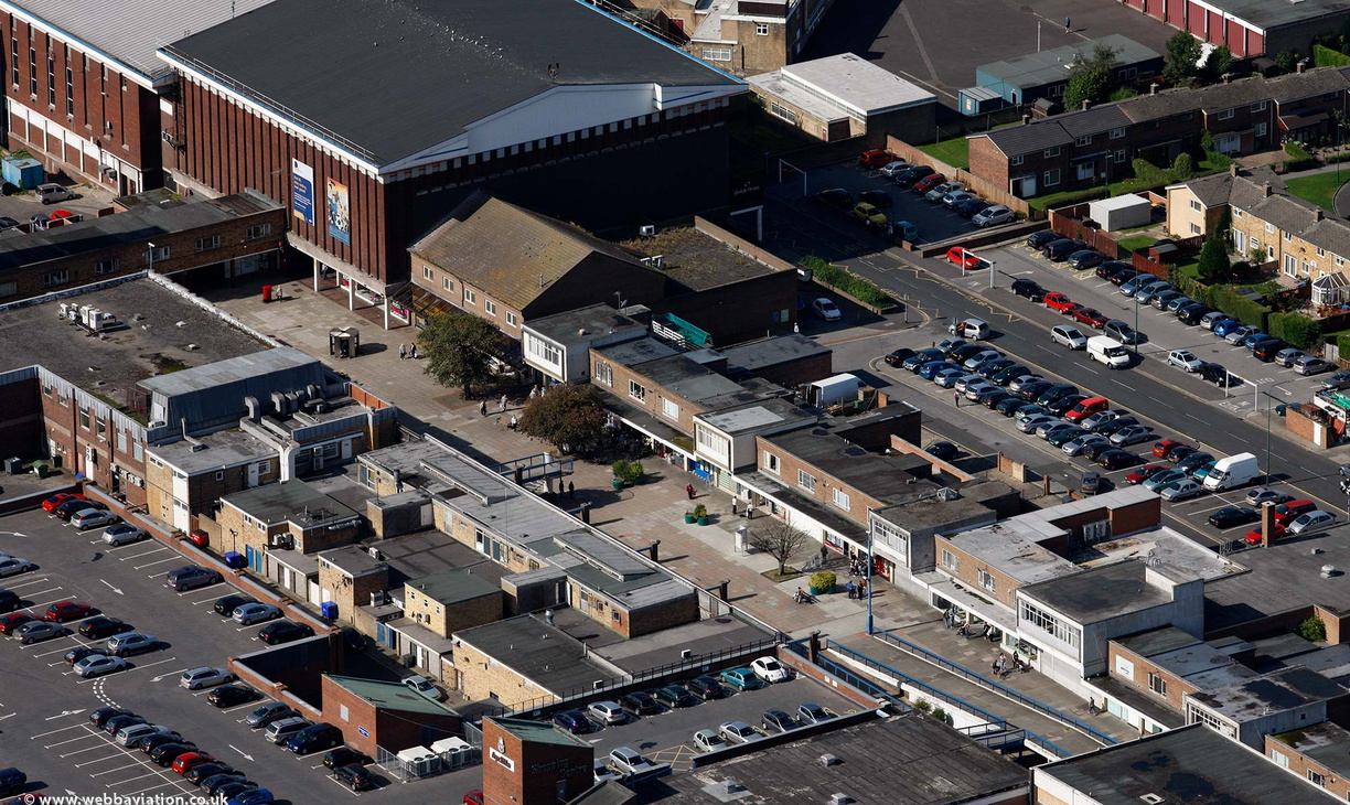 Aycliffe Shopping Centre Newton Aycliffe County Durham from the air
