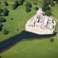 Raby Castle  County Durham England UK aerial photograph