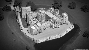 Raby Castle  from the air