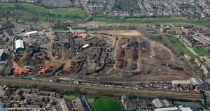 Thomson scrap yard Millfield Works Stockton-on-Tees   aerial photograph