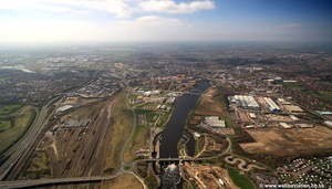 River Tees at  Stockton-on-Tees aerial photograph