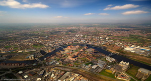 Stockton-on-Tees aerial photograph