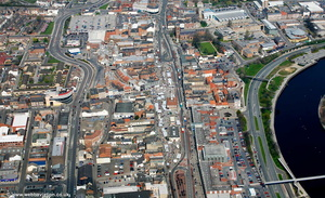 Stockton-on-Tees town centre  aerial photograph
