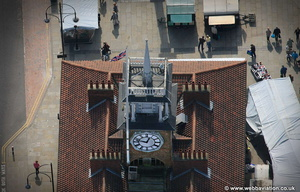 Stockton Market clock  aerial photograph