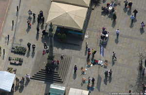 Stockton market cross  aerial photograph