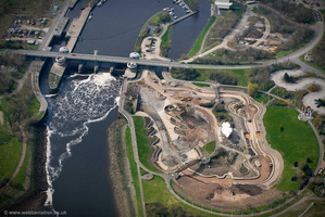 Tees Barrage aerial photograph