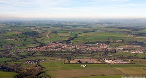 Willington  County Durham England UK aerial photograph