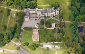 Witton Castle Durham England UK aerial photograph