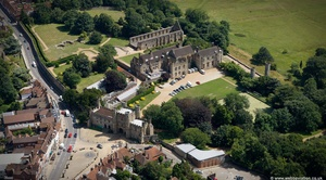 Battle Abbey East Sussex  aerial photograph