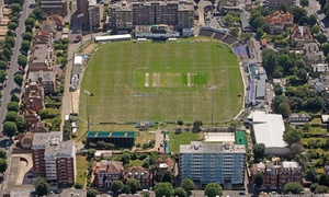 The County Cricket Ground, aka 1st Central County Ground  Hove, East Sussex, England UK ,  home of Sussex County Cricket Club aerial photograph
