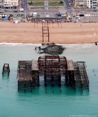 Brighton West Pier Brighton East Sussex  aerial photograph