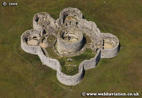 Camber Castle East Sussex  aerial photograph
