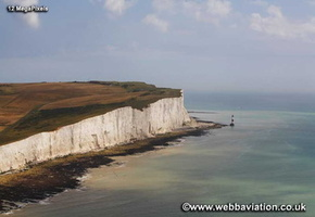 Beachy Head on Sussex coast aerial photograph