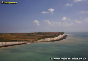 Birling Gap  on Sussex coast aerial photograph