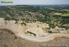 Fairlight Cove  on Sussex coast aerial photograph