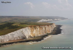 Seaford Head on Sussex coast aerial photograph