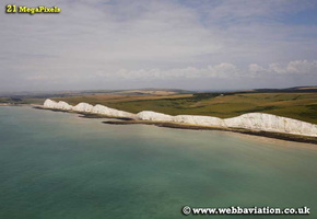 Seven Sisters on Sussex coast aerial photograph