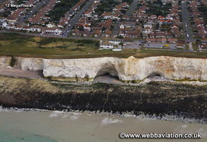 Telscombe Cliffs on Sussex coast aerial photograph