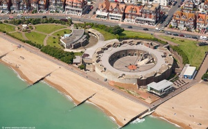 Eastbourne Redoubt Fortress East Sussex aerial photograph