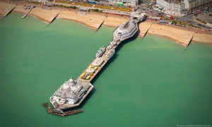 Eastbourne Pier East Sussex aerial photograph