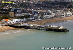 Hastings Pier East Sussex aerial photograph