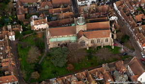 St Mary's Parish Church Rye  aerial photo