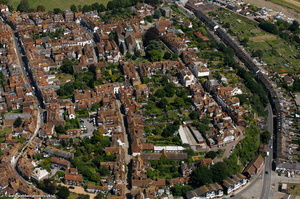 Rye East Sussex aerial photograph