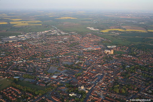 Beverley Yorkshire UK aerial photograph