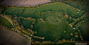 Meaux Abbey Yorkshire UK aerial photograph