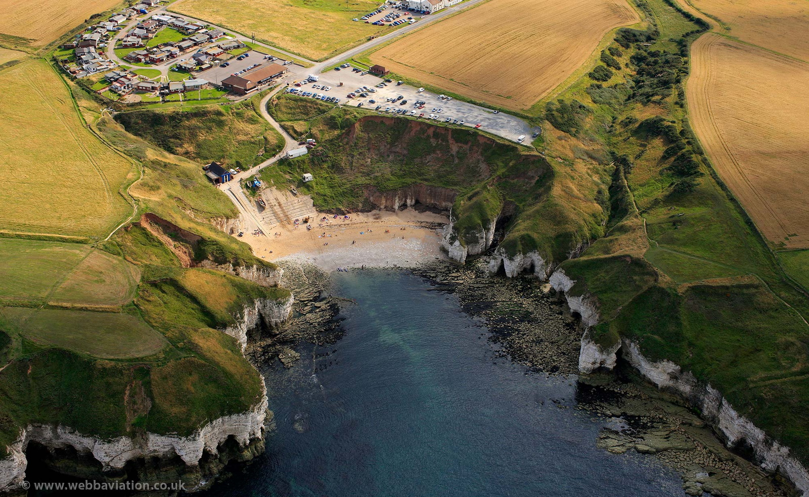 North Landing Flamborough from the air