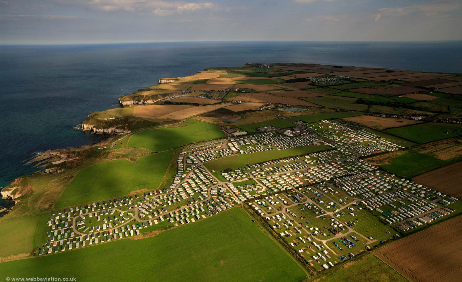 Thornwick Bay Holiday Village Caravan Park   Flamborough  from the air