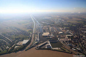 Goole Yorkshire aerial photograph