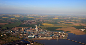 BP Chemical refinery aka Saltend Chemicals Park in Hull aerial photograph